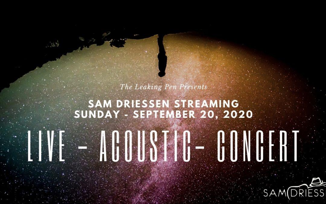 Streaming Acoustic Concert – Sunday, September 20, 2020